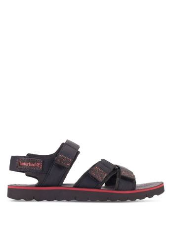 Timberland black Pierce Point Sandals TI063SH40FSPMY_1