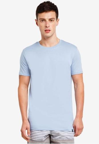 Factorie 藍色 Longline T Shirt 95F2DAA681EB87GS_1