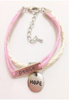 Peace Hope Suede Bracelet