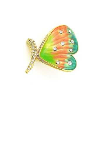 Glamorousky silver Dazzling Butterfly Brooch with Silver Austrian Element Crystal 32F51ACC18A893GS_1