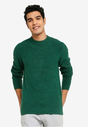 GLOBAL WORK green Boucle Knit Sweater BFF8DAA3E167E1GS_1