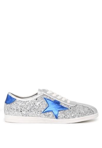 London Rag silver STAR Glitter Lace-up Sneakers SH1660 26AA0SHF93D50BGS_1