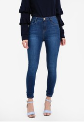 Dorothy Perkins blue Regular Mid Blue Shaping Jeans DO816AA0RQUTMY_1