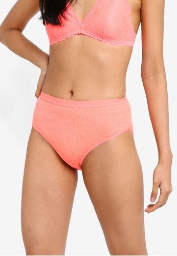 Cotton On Body pink Cotton Rib High Waist Cheeky Bikini Briefs DF9B3US9A9374FGS_1
