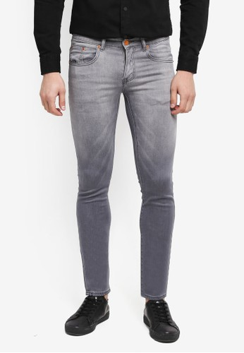 Electro Denim Lab grey Dub Tight Fit Ombre Jeans C45E0AA1FE1625GS_1