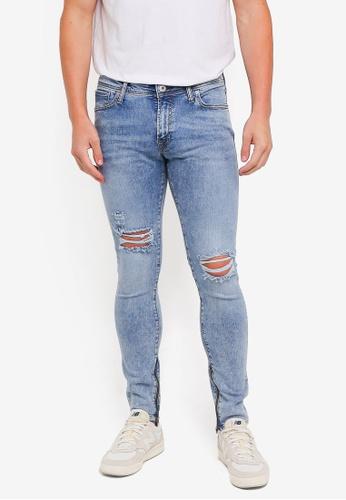 Jack & Jones 藍色 緊身牛仔褲 82052AA3272A4DGS_1