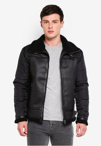 Indicode Jeans 黑色 刷毛皮外套 5A2EAAA97435E9GS_1