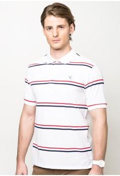Essential Stripes Polo Shirt (White)