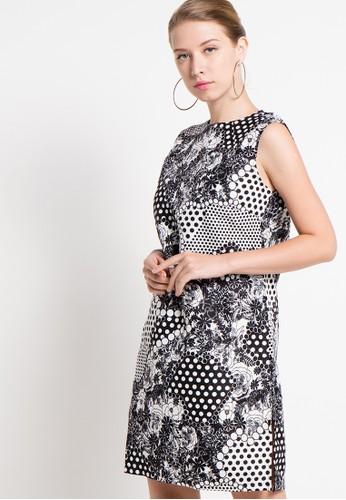 Raspberry black Nila Sheath Printed Midi Dress RA572AA52QYHID_1