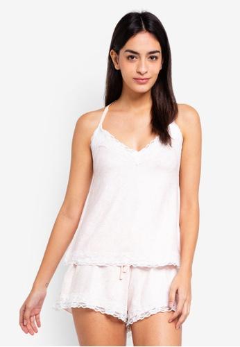 Dorothy Perkins 粉紅色 Blush Loungewear Lace Cami AA76BAA27A9B2AGS_1