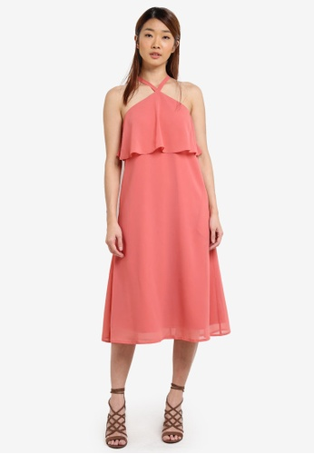 b9fbbf48f81b Buy SOMETHING BORROWED Double Layer Midi Dress Online | ZALORA Malaysia
