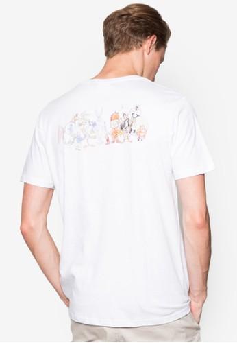 esprit 見工褪色圖文設計TEE, 服飾, T恤