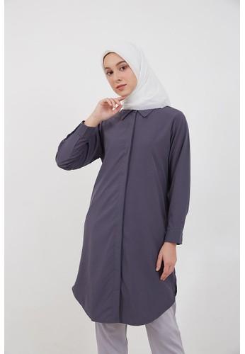 Hijabenka grey Sephia Fitta Basic Shirt Grey 8F069AADB93A88GS_1