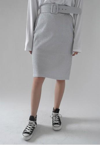 韓式風格腰帶及膝短裙, 服飾,esprit china 裙子