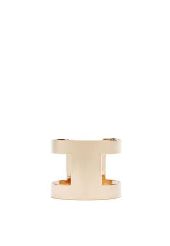 FOREVER 21 gold Geo Cutout Cuff Bracelet 72754AC638E150GS_1