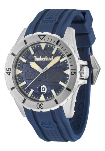 Timberland blue Boylston TBL.15024JS/03P Blue Silicone Strap Men Watch TI063AC96TQXMY_1