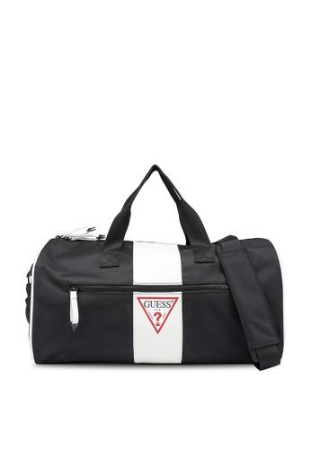 Guess black and white Central Small Duffel Bag BFBA0AC3E8DE8AGS_1