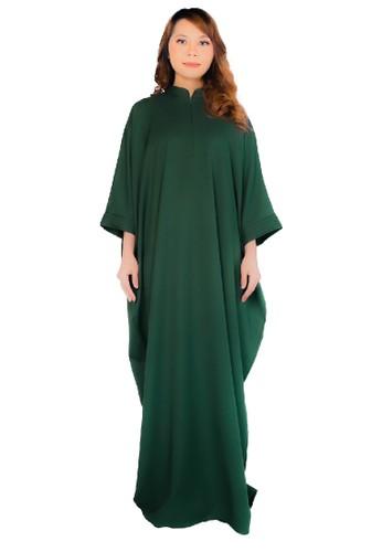 SARIMA green kaftan maleeqa hijau zamrud 7690BAA351D390GS_1