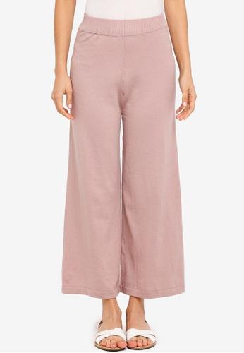 Zalia pink Knitted Rib Pants 39447AA3C83064GS_1