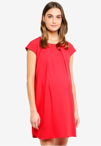 Spring Maternity red Maternity Cap Sleeves Corissa Dress 0D005AA54F91ABGS_1