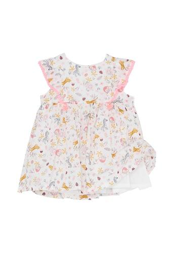 Du Pareil Au Même (DPAM) white Pom Pom Dress 216D2KAB8C0E35GS_1