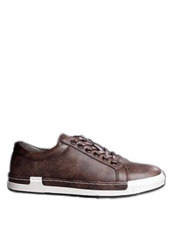 Twenty Eight Shoes brown Sewing Edge Sneakers VMT556 FD085SH13B9A01GS_1
