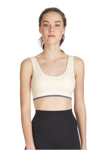 6IXTY8IGHT white Billie, Circular Knit Sports Bra BR09849 B6A46US847AB26GS_1