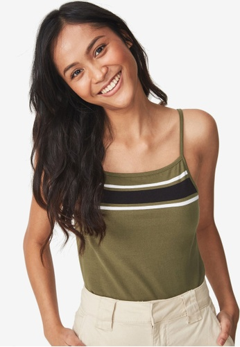 Cotton On green Crop Cami Top 2B522AA14F2AD7GS_1