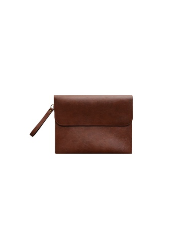 Knocks brown Brighton Clutch (Reddish Brown) KN307AC85XCCSG_1