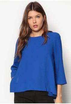 Blue Split Side Top