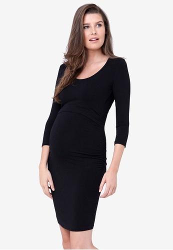 Ripe Maternity black Maternity Nursing Tube Dress 8A0D2AA13006E7GS_1