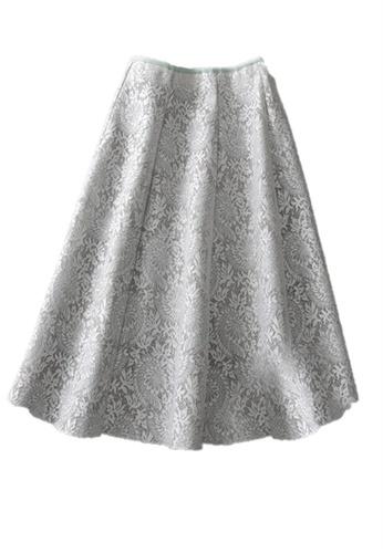 Sunnydaysweety grey F/W Cotton Blend Simple Lace Pattern Midi Skirt K20200402 A8D38AA9465716GS_1