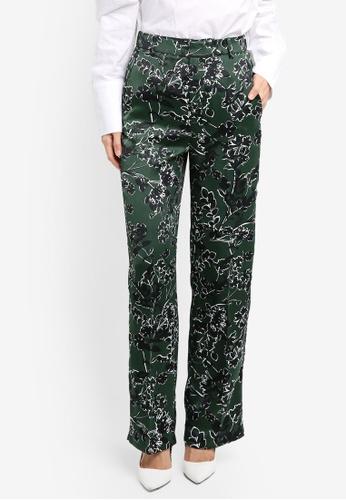 Mango green Floral Print Trousers D2349AA3D11DCDGS_1