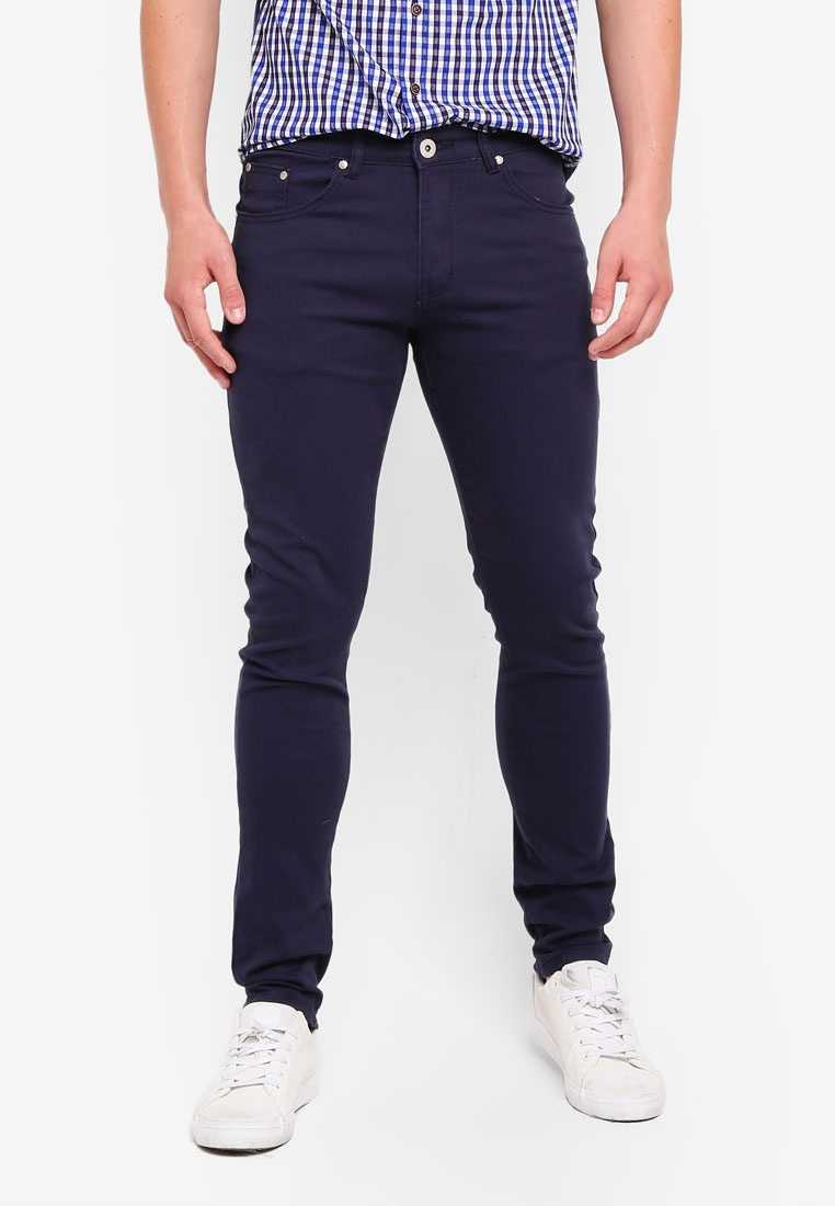 Chinos Fidelio Stretchable Skinny Navy 3060 xFH1wE