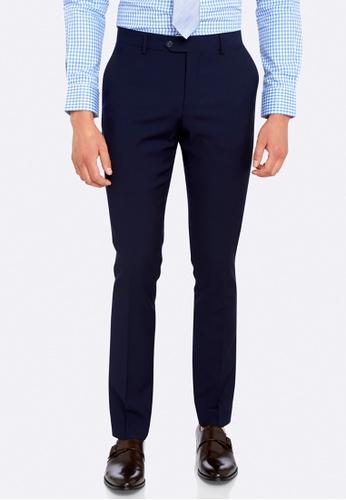 Oxford blue Travel Auden Wool Suit Trousers B4C93AA016B5B6GS_1