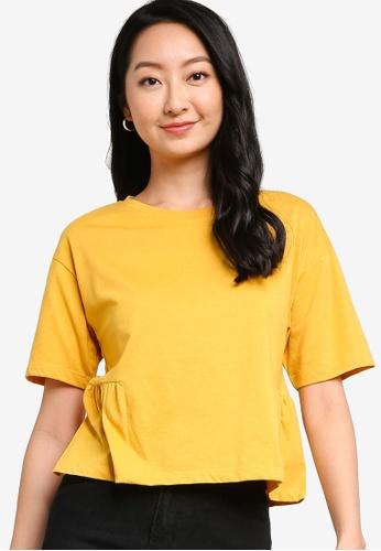 ZALORA BASICS yellow Smock Boxy T-Shirt ED53AAAAB1FE96GS_1