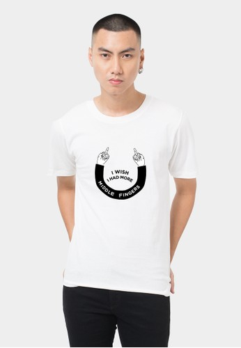 Monstore Wish Had More Middle Finger Tee White EF31CAA7F719B0GS_1