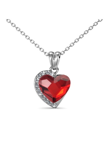 Her Jewellery red Her Jewellery Fond Love Pendant (Ruby Red) with Necklace Chain with 18K Gold Plated HE210AC0GFI2SG_1