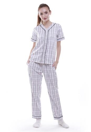JOYFULIE white and grey Barbara Pajamas  4FCD7AA08E4DC7GS_1