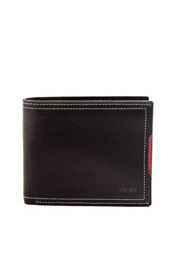 Otto black Bi-fold Wallet OT407AC0JKY1PH_1