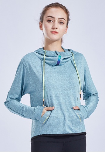 HAPPY FRIDAYS Women's Cropped 1/4-Zip Hoodie QF17-14 A2FA5AAFB4B338GS_1