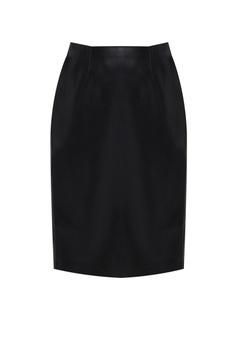 4090e8a3b FOREVER 21 black Faux Leather Pencil Skirt 29E50AACE081E1GS_1
