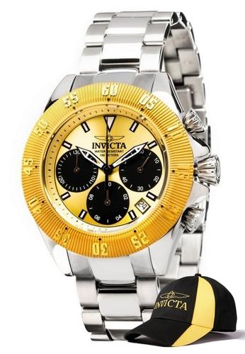 INVICTA gold Speedway  Chronograph IP 48mm Quartz Stainless Steel Watch 22398 w/ Free Official Baseball Cap D0B02AC2D503B5GS_1