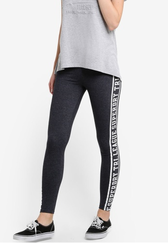 Superdry grey Tri League Graphic Leggings SU137AA59JMAMY_1