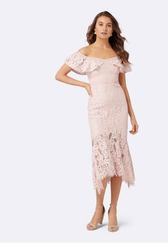 d7204df09660 Buy Forever New Phillipa Lace Off Shoulder Dress Online on ZALORA Singapore