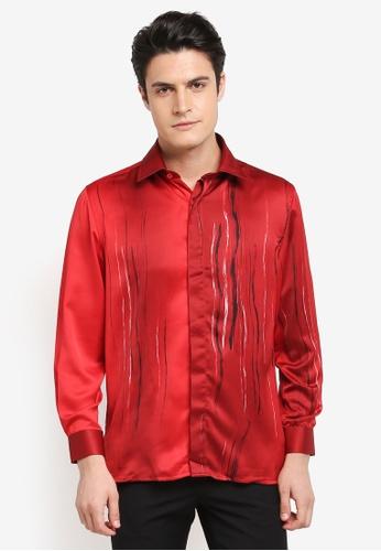 Gene Martino red Batik Shirt 218D4AADA4E13CGS_1
