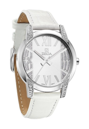 ZECA white and pink and silver Zeca Watches Ladies Fashion - 103L White Silver ZE260AC36SMTSG_1