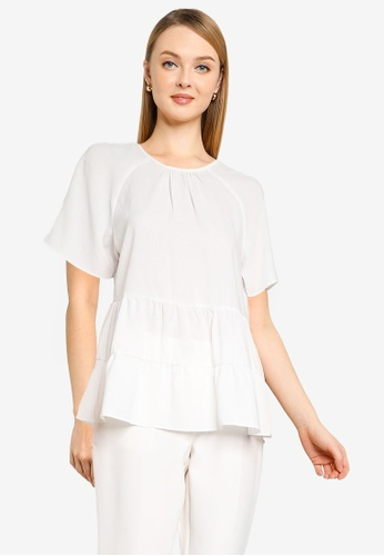 Dorothy Perkins white Ivory Tiered Frill Top 8B7CDAA553C195GS_1