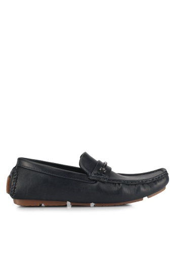 UniqTee black Slip On Loafer With Hardware EB2CCSH0092E72GS_1