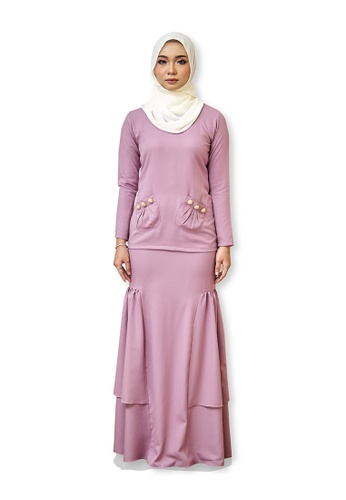 Farraly Isabell Kurung from FARRALY in Pink
